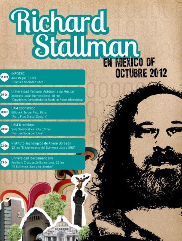Richard Stallman en México Df, Octubre 2012