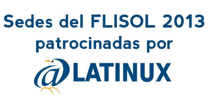 Sedes del FliSol 2013 patrocinadas por LATINUX